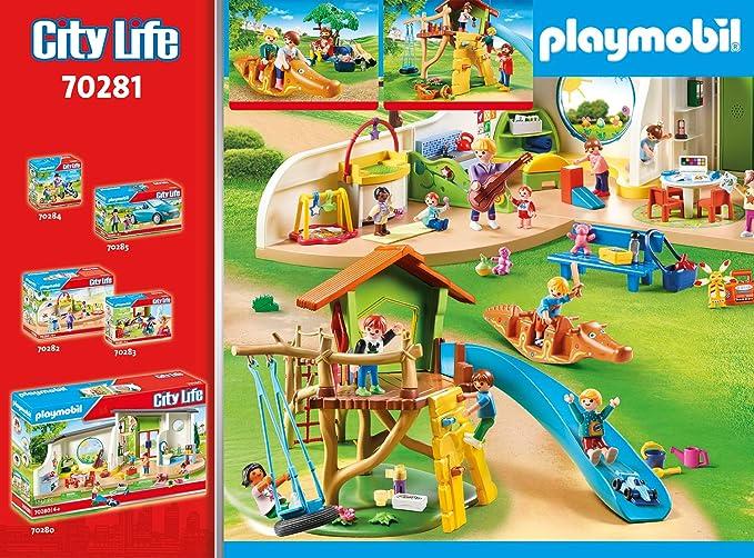 PLAYMOBIL City Life 70281 Parque Infantil Aventura, A partir de 4 años