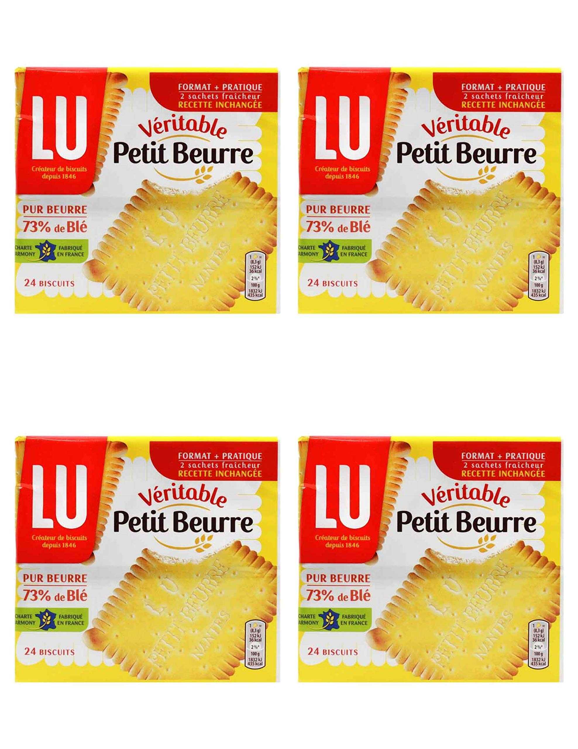Lu Petit Beurre Biscuits, 7 oz From France Pack of 4 by LU