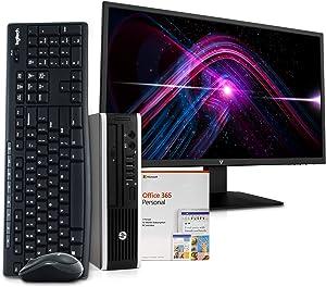 HP 8300 Desktop Computer PC, Intel i5, 8GB RAM, 256GB SSD, Windows 10, New 23.6