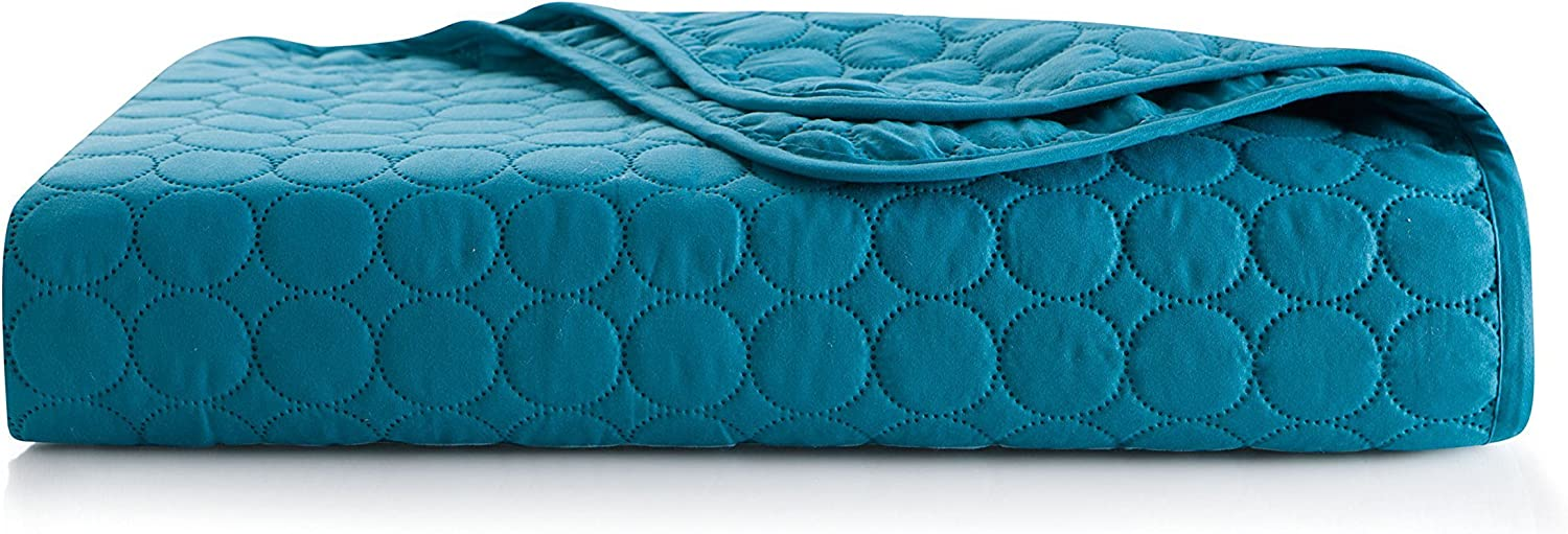 VCNY Home Jackson Embossed Circle, Full/Queen, Teal