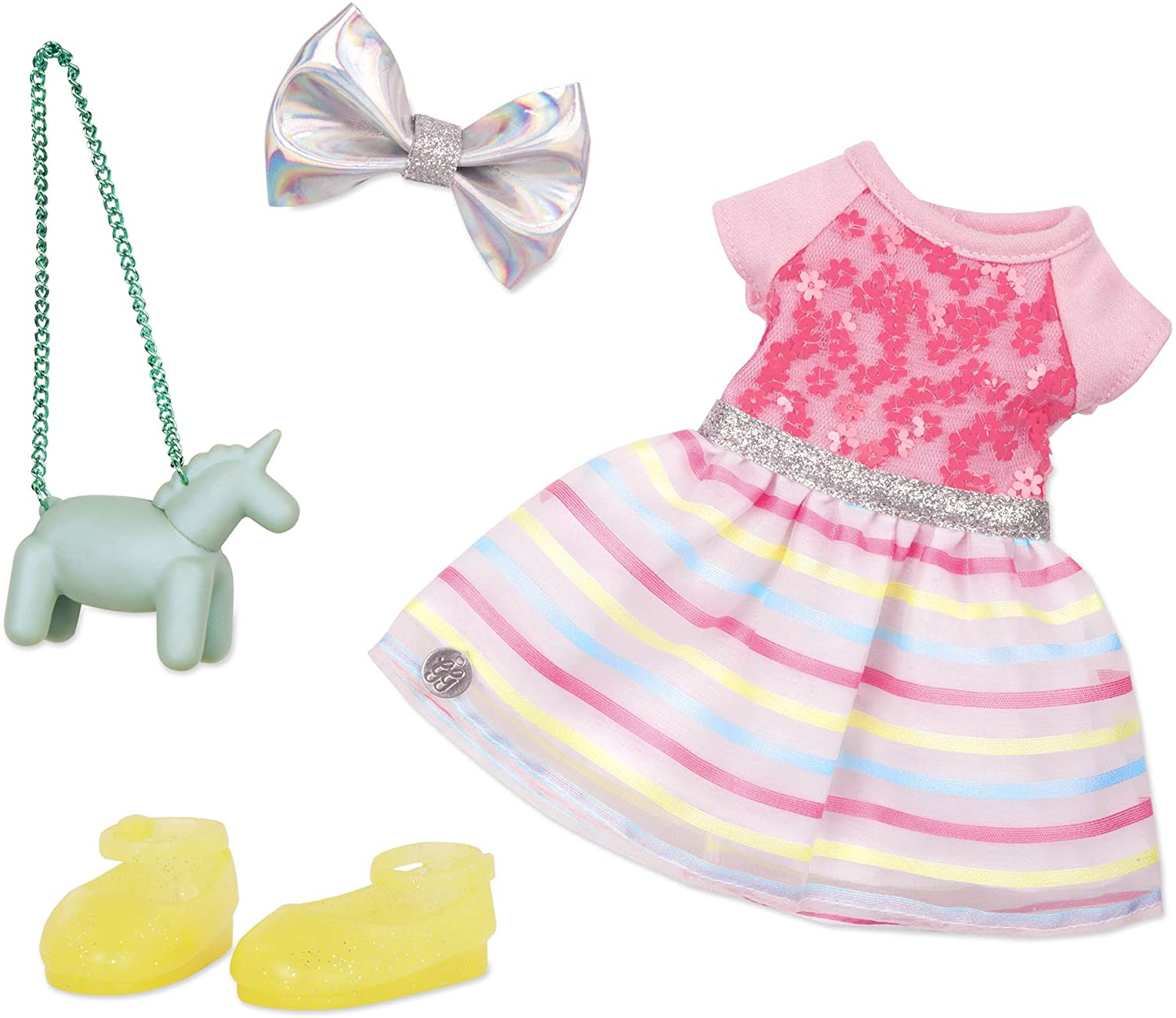 """Glitter Girls by Battat - Shiny Flowers In Bloom Outfit -14"""" Doll Clothes– Toys, Clothes & Accessories For Girls 3-Year-Old & Up (GG50107Z)"""