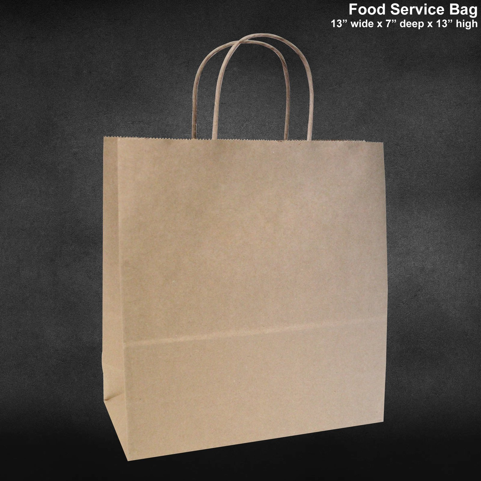 13''x7''x13'' 100 Qty -Paper Restaurant Bags Brown Kraft Paper Bags Shopping Merchandise Bags Party Bags Gift Bags Retail Bags Craft Bags Brown Bag Natural Bag Bagsource®