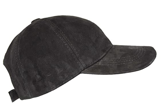 Baseball New Golf Black Suede Men s Women Real Soft Leather Hiphop Cap Hat  Velcro Adjustable. 8ccd0a464a1