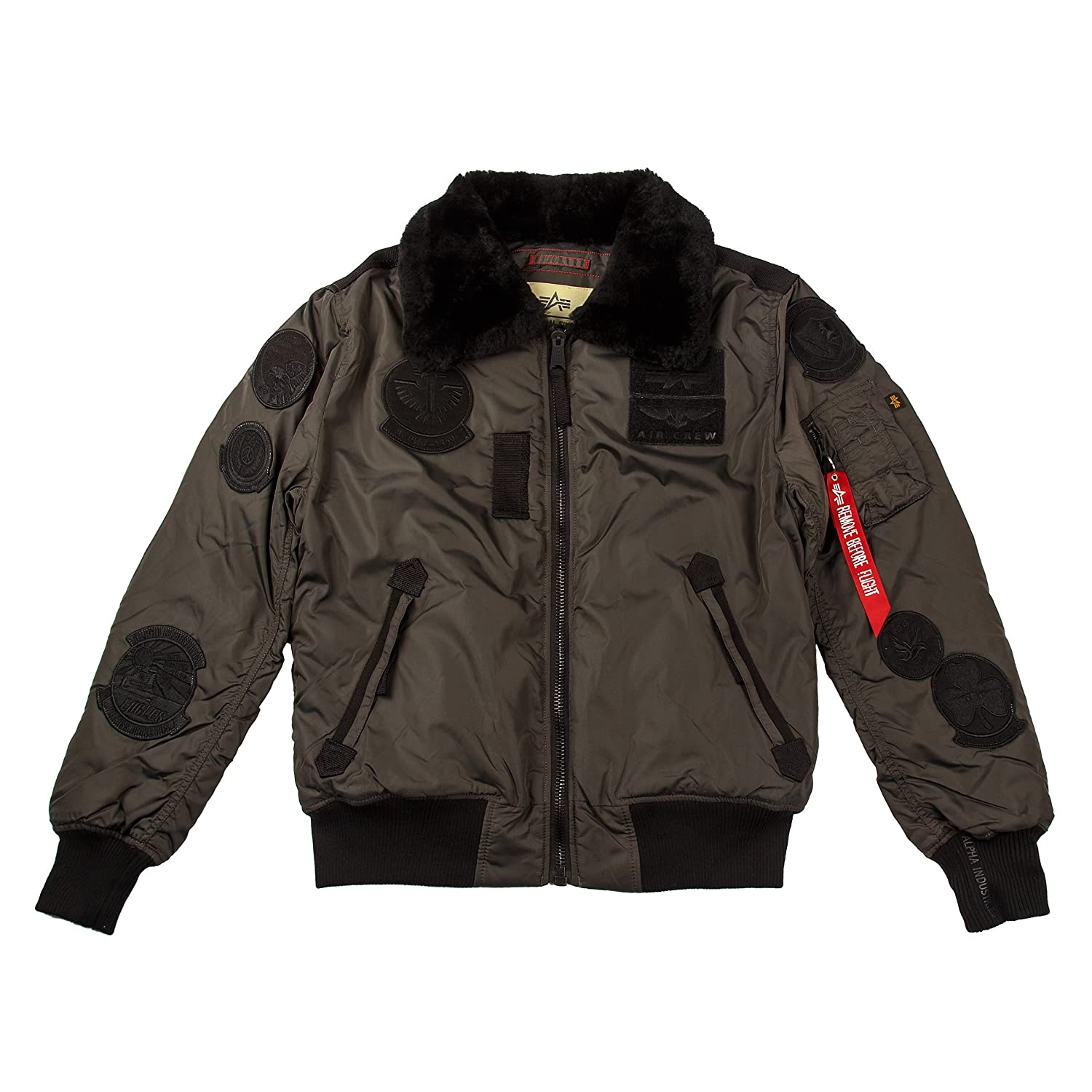 Alpha Industries Hombre Bomber Chaquetas Injector III Patch Greyblack S