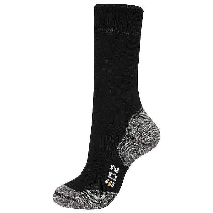 EDZ Lana Merino Térmico para calcetines longitud estándar (negro) Negro negro