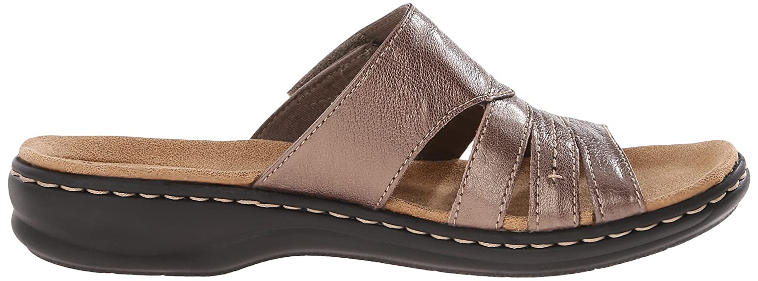 Amazon.com | CLARKS Women's Leisa Grove Slide Sandal, Pewter, 9.5 M US |  Sandals