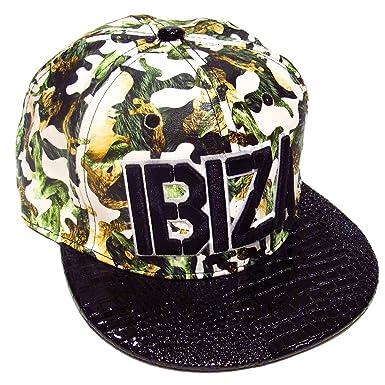 Ibiza Gorra Snapback Camuflaje Verde - Blanco, Talla única: Amazon ...