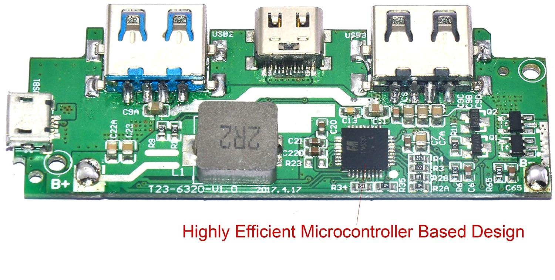 M A Enterprises Quick Charge Qc30 Power Bank Pcb Mobile 18650 Polymer Pcba Circuit Board Diy Dual Usb 5v 1a Electronics