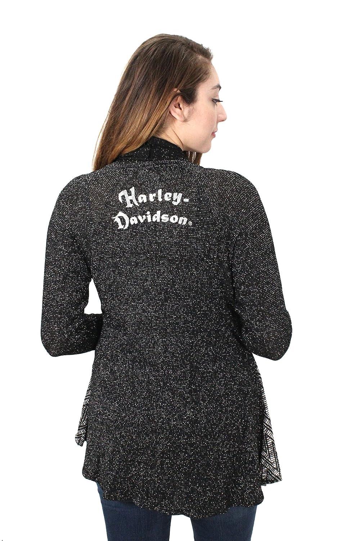Harley-Davidson Womens Spring Chevron Panels with B&S Logo Cardigan