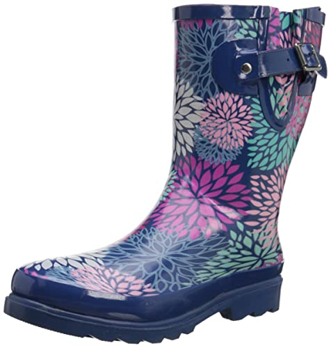 Western Chief Women's Big Bloom Mid-Height Rain Boot