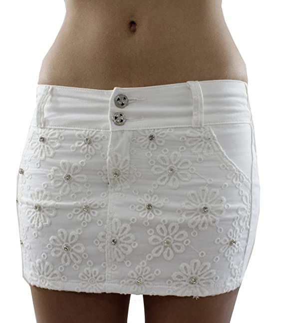 Mini Falda Blanca Wonder/Push UP Vaquera Shape UP Mini Falda ...