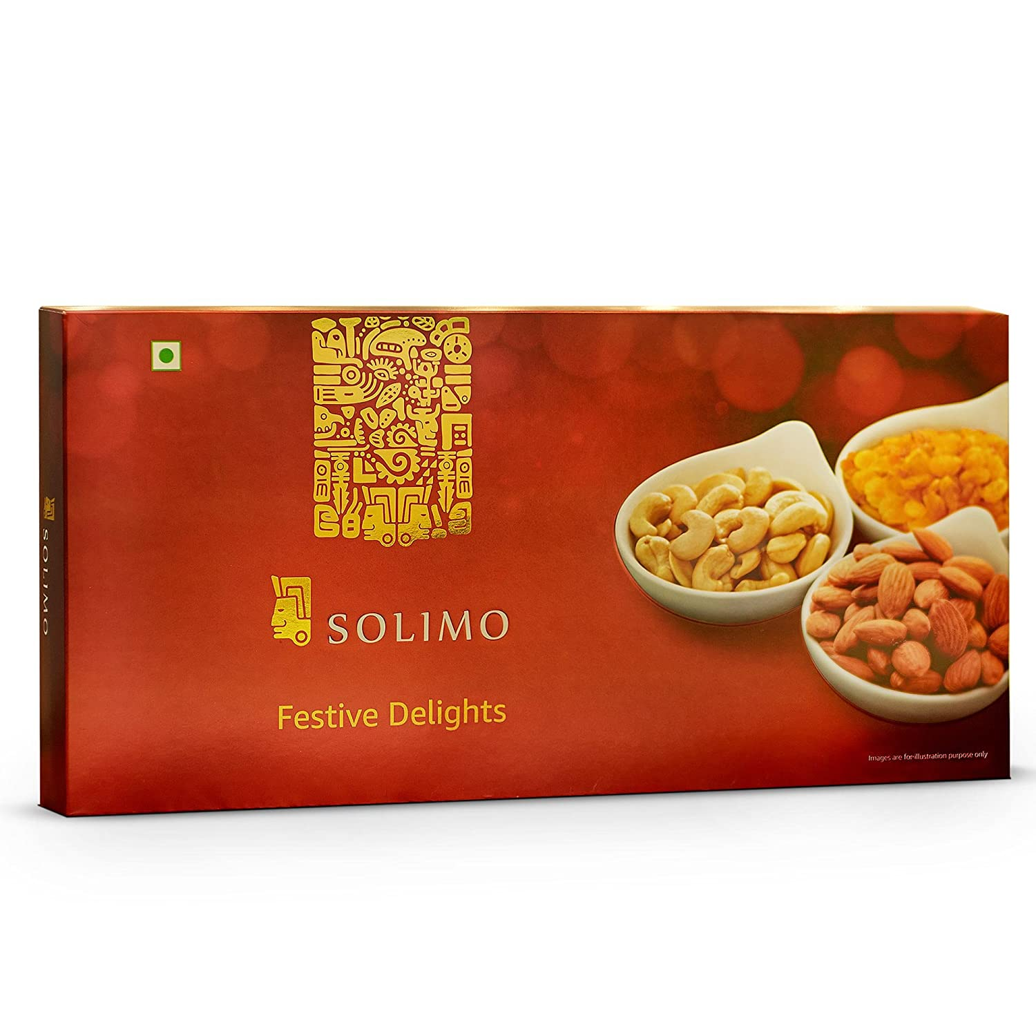 Solimo Festive Delights Gift Pack of Nuts and Dry Fruits, 300g