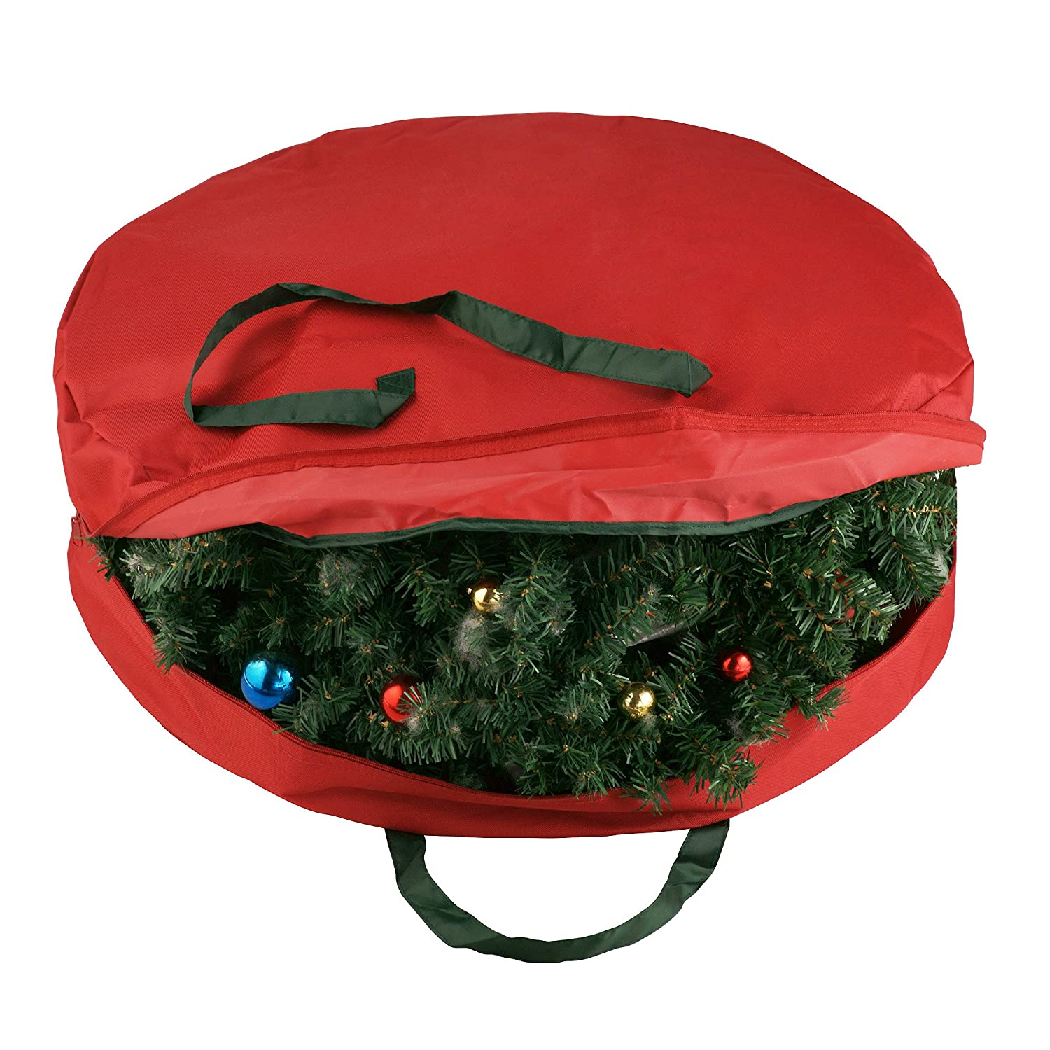 Elf Stor Green Canvas Holiday Christmas Wreath Storage Bag For 30