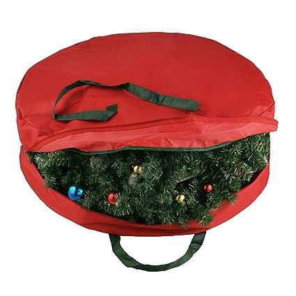 Elf Stor Supreme Canvas Holiday Christmas Wreath Storage Bag For 30 Wreaths