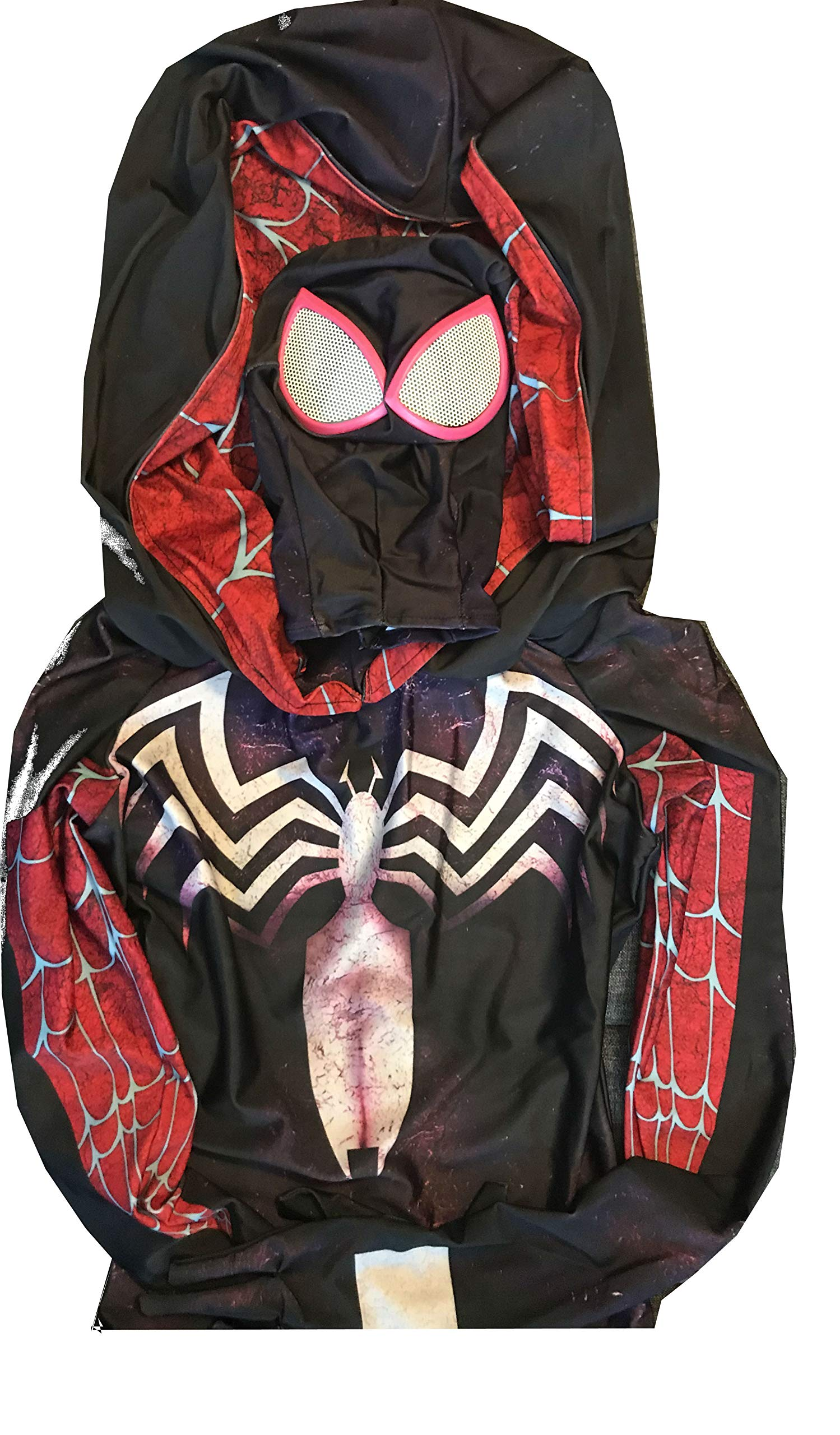 - 81VRnuWK99L - Gwen Stacy Cosplay Costume Suit w/Hood, Mask, Lenses | Gwen Stacy Venom Spiderman Cosplay