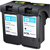 Weemay for Canon PG-645XL CL-646XL PG 645 XL Remanufactured Ink Cartridge Use for Canon PIXMA MG2460 MG2560 MG2960 MG2965 MG3060 MX496 TS3160 (1BK,1C)