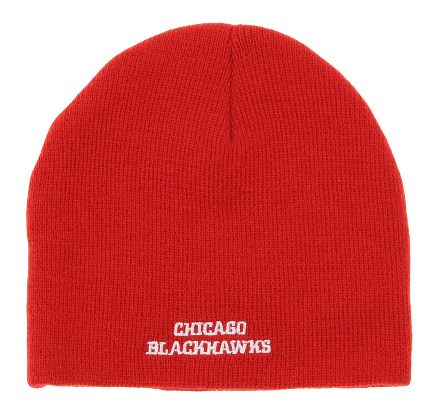 d3c8c2b1ab4 Amazon.com   Chicago Blackhawks Reebok Youth Face Off Red Knit Hat   Sports    Outdoors