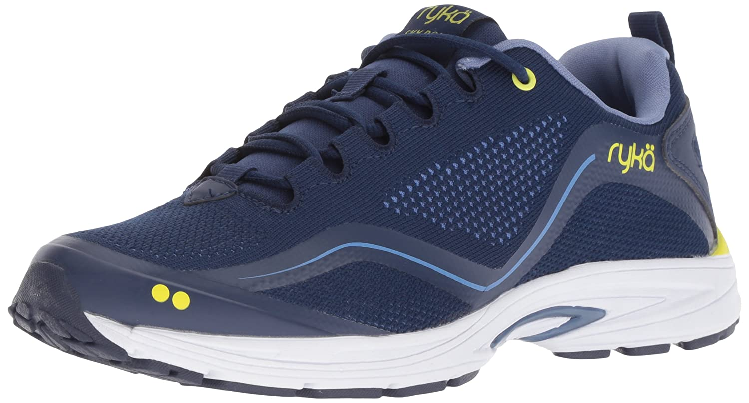 Ryka Women's Sky Bolt Walking Shoe B07BLGHG2R 9.5 W US|Blue/Yellow