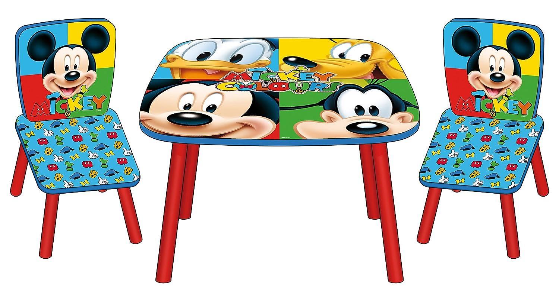 Arditex - 008328 - Ensemble Table + 2 Chaises en Bois - Mickey Mouse UP&CO WD8328 Ameublement et décoration