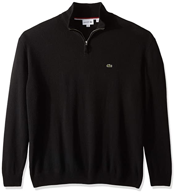 2f89d275 Lacoste Men's Long Sleeve Wool with 3/4 Zip