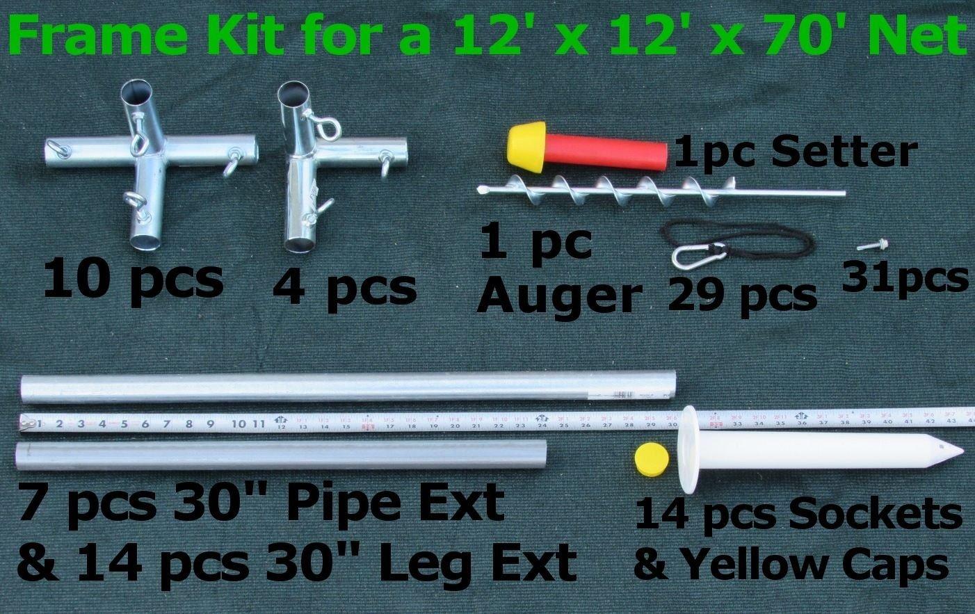 Batting Cage Frame Kit EZ UP /& Down Baseball Softball Frame Kit
