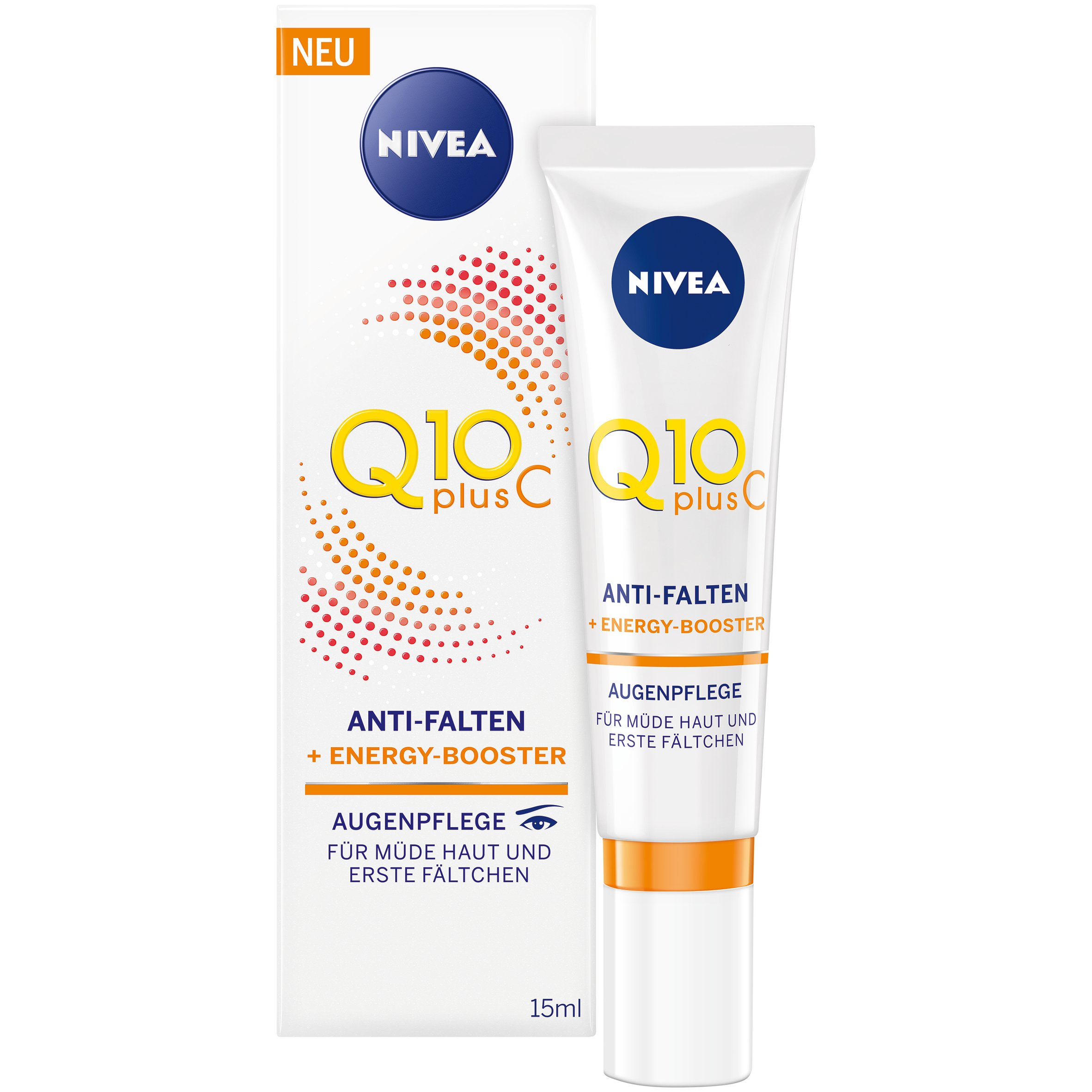 Nivea Q10 Plus C Anti-Wrinkle + Energy Booster Eye Cream For Tired Skin and Fine Lines 15ml