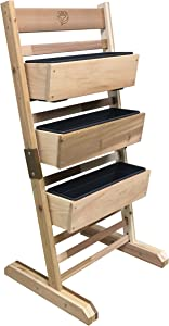 "Gro Products VGS-3248I-S Vertical Garden Bed, 36"" W X 48"" H X 21"" D, Cedar"