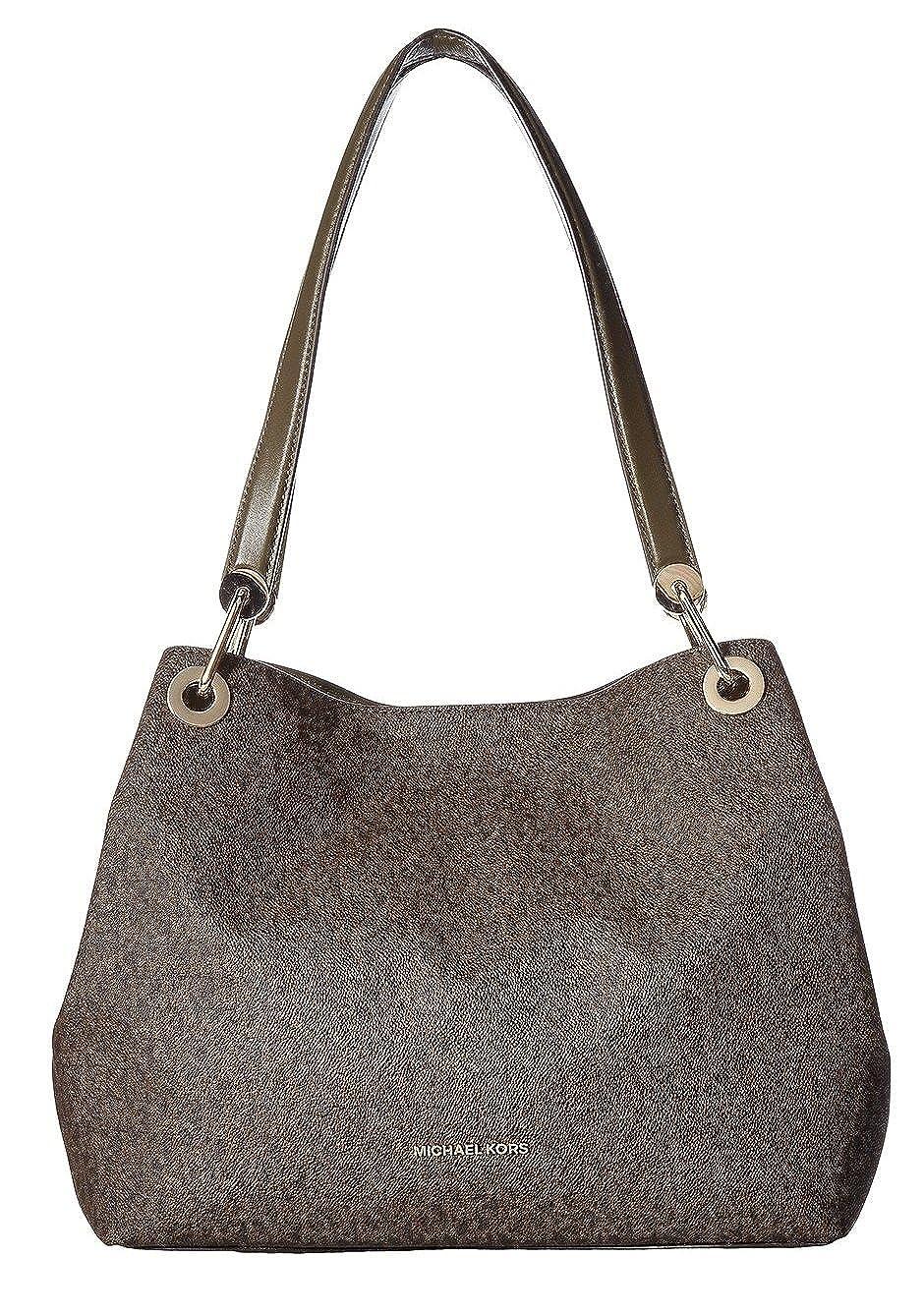 115e84cbdde1 MICHAEL Michael Kors Raven Large Shoulder Tote Olive/Brown: Handbags:  Amazon.com