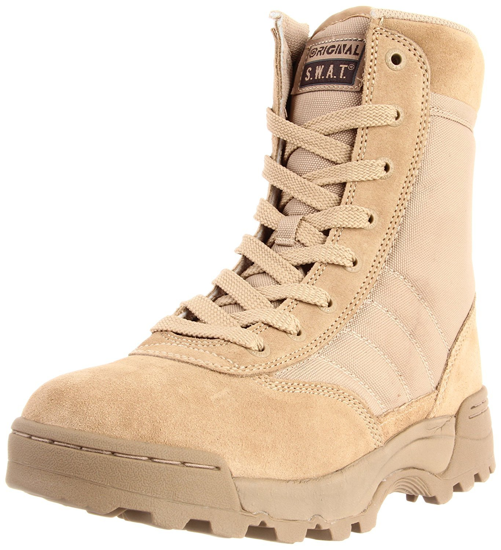 Original S.W.A.T. Men's Classic 9 Inch Side-zip Tactical Boot, Tan, 11 D US