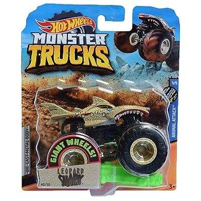 Hot Wheels Monster Trucks Leopard Shark 40/50, Sand: Toys & Games