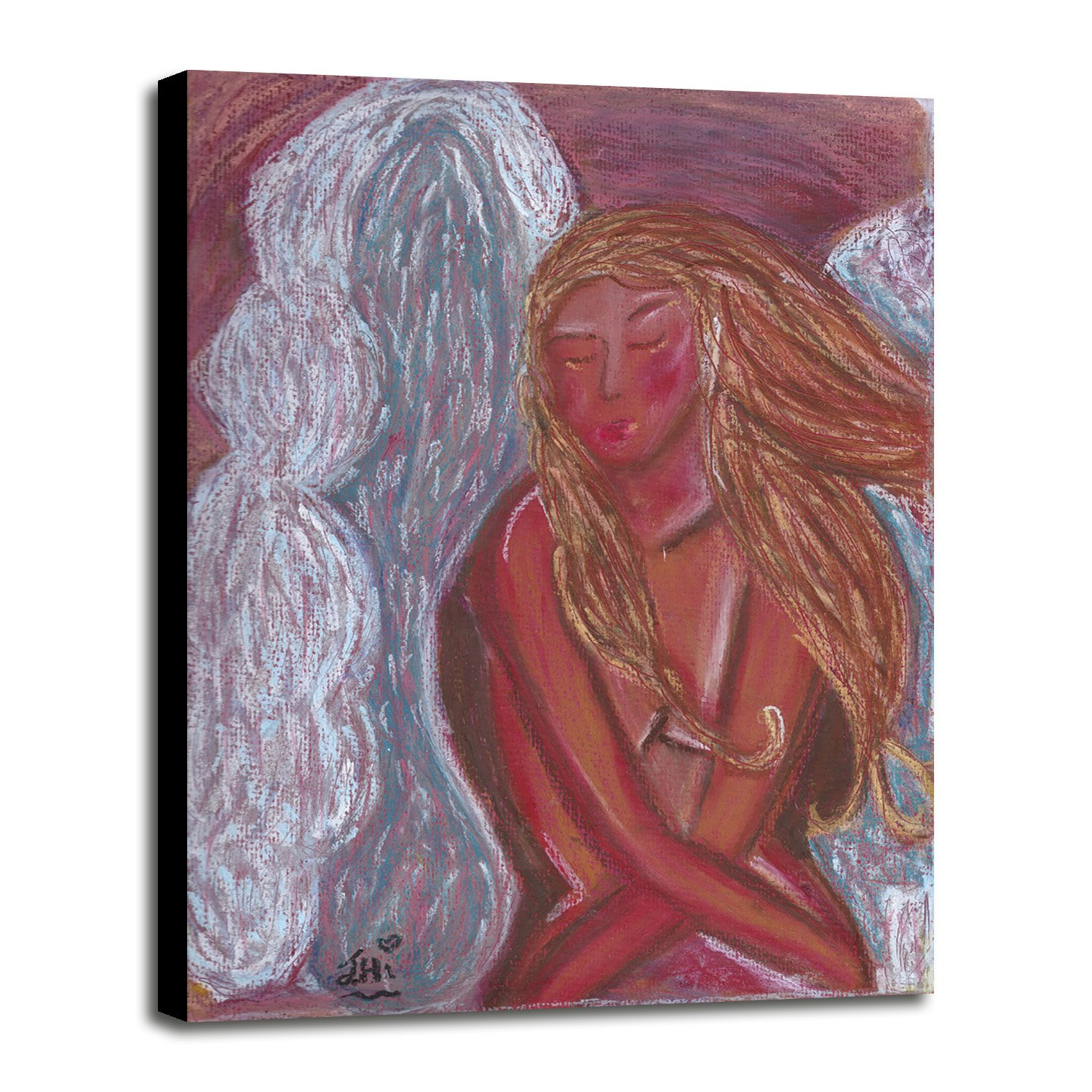 Angel of Love Framed Print 45.00''x32.65'' by Jane Hinchliffe