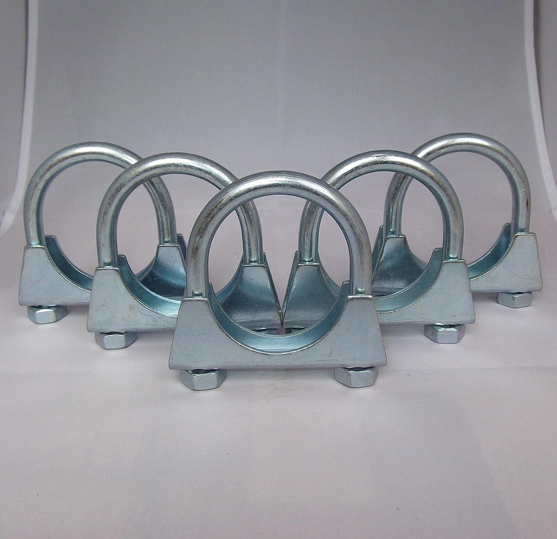 5 Stück Schelle Auspuffschelle Rohrschelle Bügelschelle Rohrverbinder Clamp M10 Ø 60 Mm Auto
