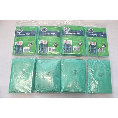 8x Ponchos de pluie avec capuche Poncho vert transparent