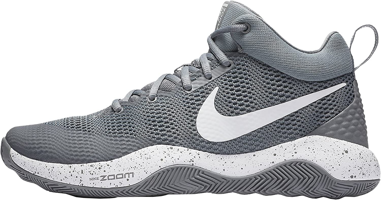 interior Refinar Arbitraje  Amazon.com | Nike Men's Zoom Rev 2017 Basketball Shoe Cool Grey/Dark  Grey-White 8 | Team Sports