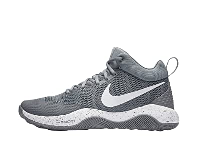 Nike Men's Zoom Rev 2017 Basketball Shoe Cool Grey/Dark Grey-White 8