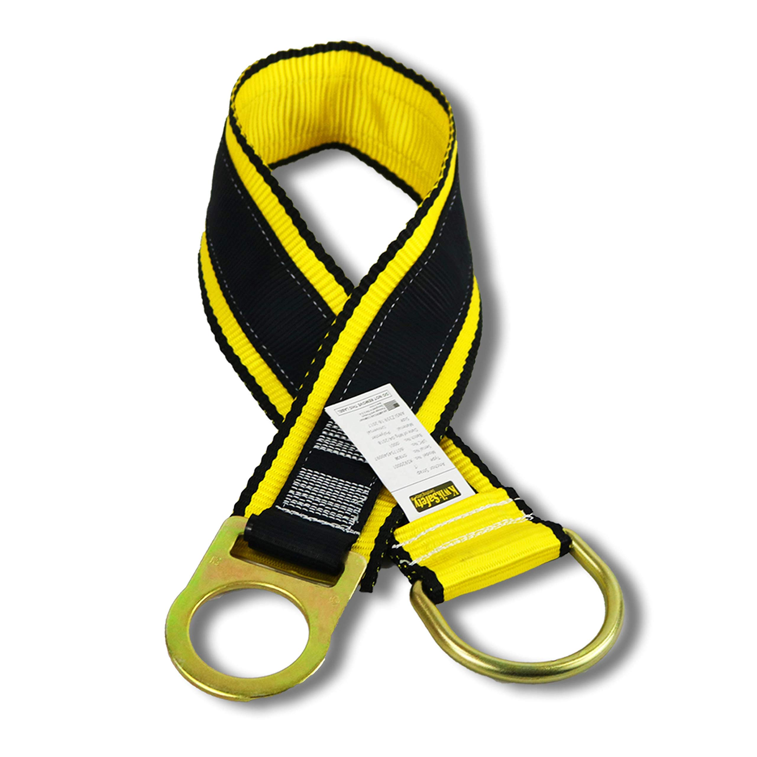 KwikSafety (Charlotte, NC) GIBBON GRIP 3 ft Anchor Choker Cross Arm Strap Fall Arrest ANSI Pass Thru Tie Off Safety Sling Anchorage Connector Fall Protection Harness Lanyard SRL Construction PPE Kit by KwikSafety