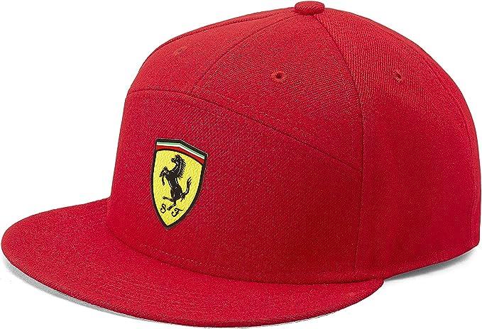 Branded Sports Merchandising B V Offizielle Formula 1 Merchandise Ferrari Flatbrim Kappe Rot Bekleidung
