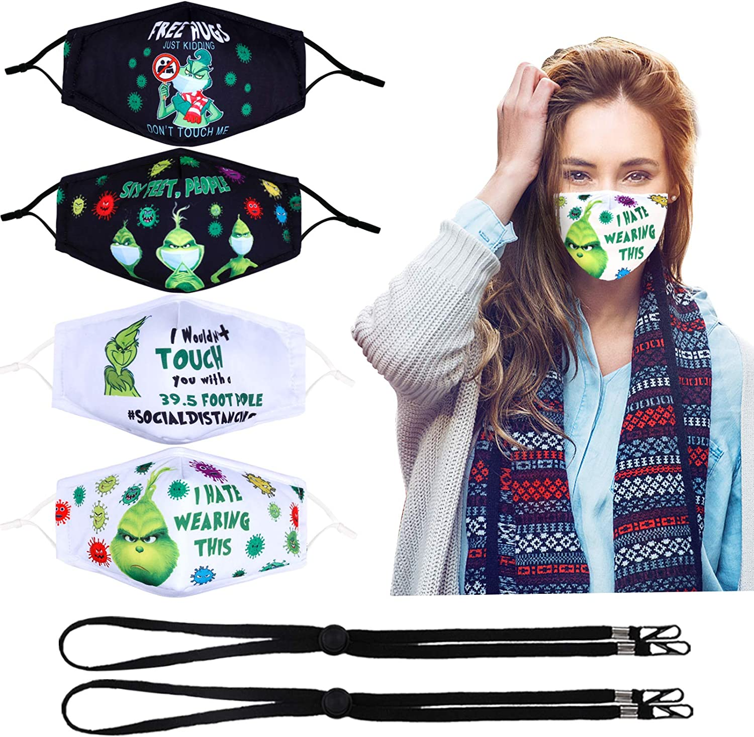 Woplagyreat New Designed Reusable Face Cover, Matching The Patterns Elaborately for Every Pack