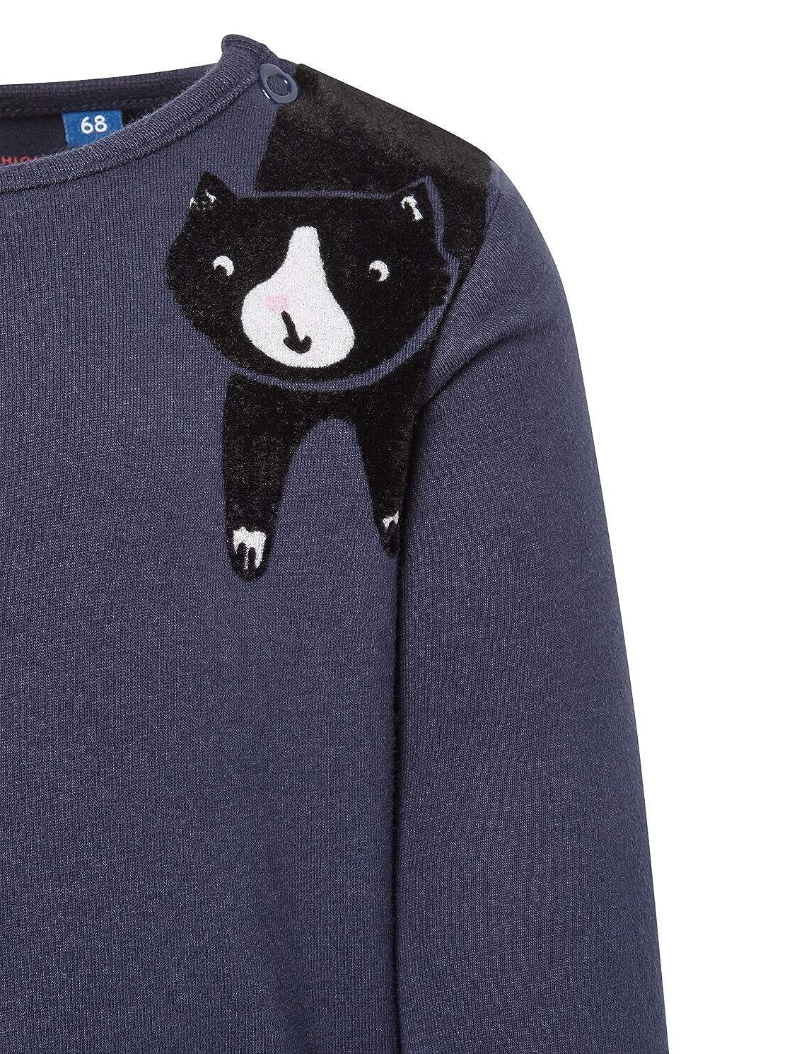 TOM TAILOR f/ür M/ädchen T-Shirts//Tops Langarmshirt mit Katzen-Print