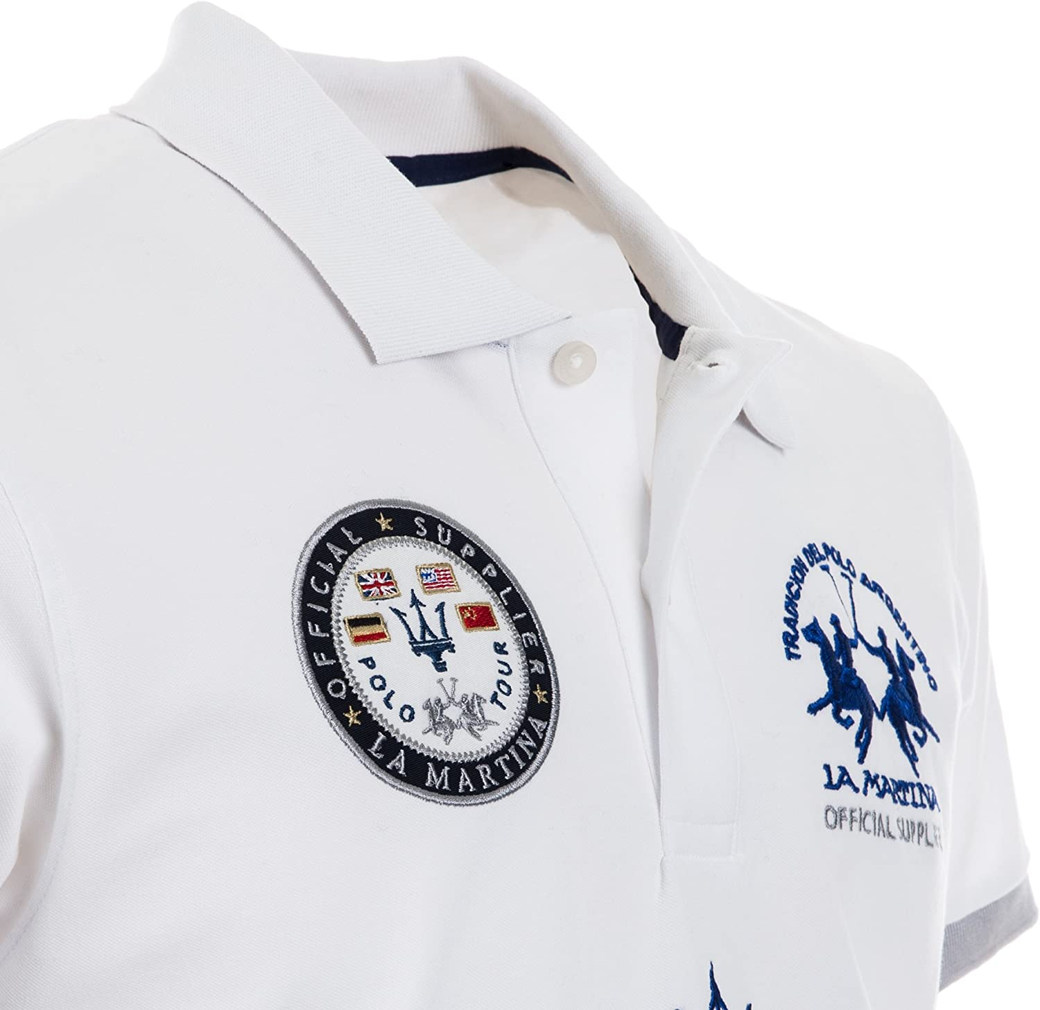 Maserati Polo Team Tour Blanca Bianco XL: Amazon.es: Ropa y accesorios