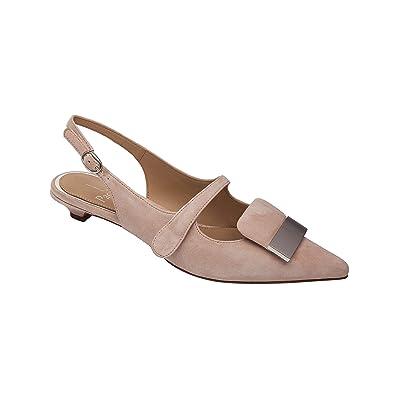 Linea Paolo - Capri - Kitten Heel Slingback Modern Wrapped Metal Ornament | Pumps