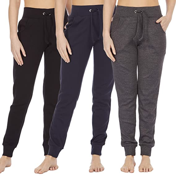 1409ffdb86 COTTONIQUE Ladies Skinny Casual Joggers Cotton Sweatpants: Amazon.co ...