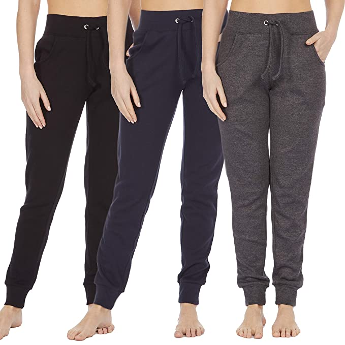 great fit clear and distinctive discount price COTTONIQUE Ladies Skinny Casual Joggers Cotton Sweatpants ...