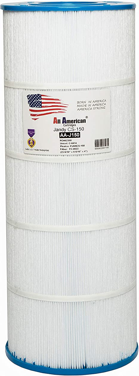 Pleatco PJANCS150 150 Sq Ft Replacement Pool Filter Cartridge for Jandy CS 150