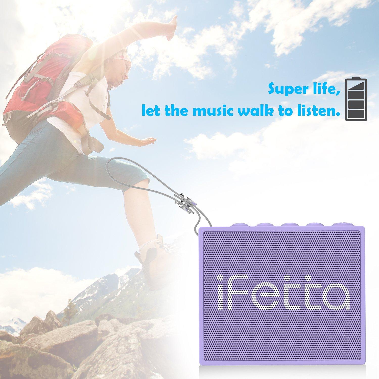 Ifecco Portable Wireless Speaker, Bluetooth 4.1 Waterproof Speaker with Built-In Mic Perfect Speaker for Outdoor, Beach, Shower & Home (taro purple)