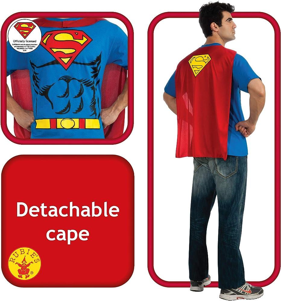 Robin Shirt /& Cape Mens Superhero Batman Fancy Dress Costume Stag Outfit M,L,XL