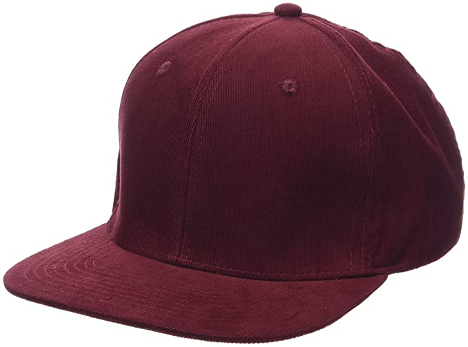 New Look Cord Cap Gorra de béisbol, Red (Dark Burgundy), Talla ...