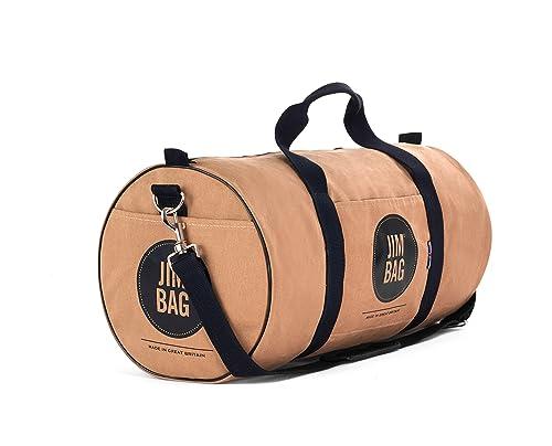 b38c757373 Camel and Black Gym Bag Sports Fashion Holdall Jimbag  Amazon.co.uk ...