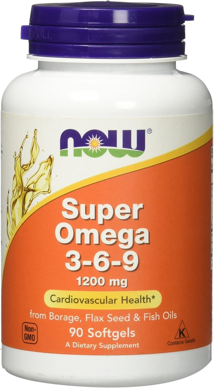 Amazon Com Super Omega 3 6 9 1200 Mg 90 Softgels By Now Health