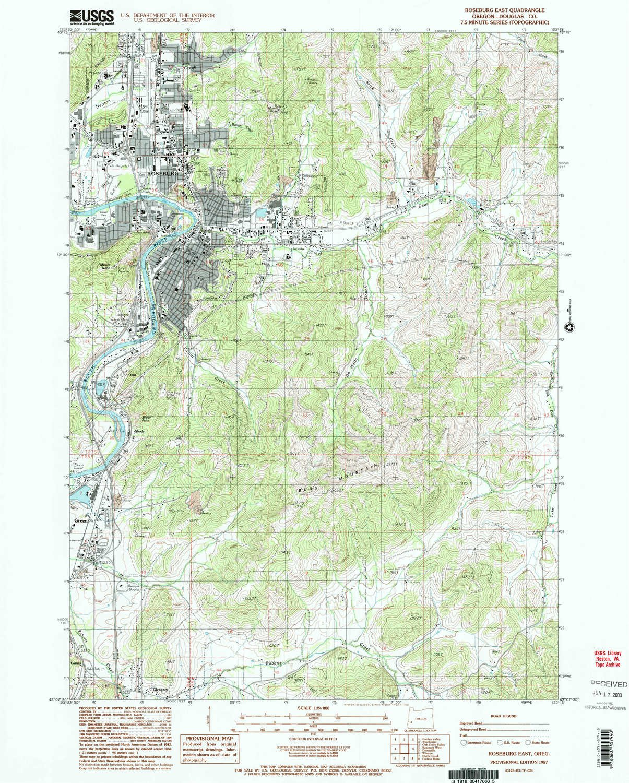 Amazon.com : YellowMaps Roseburg East OR topo map, 1:24000 Scale ...